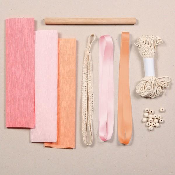 Kit papier crépon - Décoration macramé - 23 pcs - Photo n°2