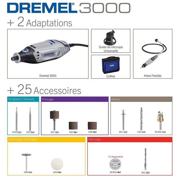 Outil Dremel 3000 - 26 accessoires inclus - Photo n°2