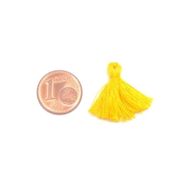 5 Petits Pompons Jaune Bouton D'or, Impérial De 2cm - Photo n°2