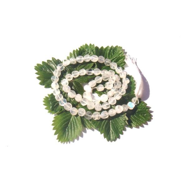 15 Perles Disques irréguliers Pierre de Lune Arc en Ciel 5/6 MM de diamètre x 1.5/2 MM - Photo n°1