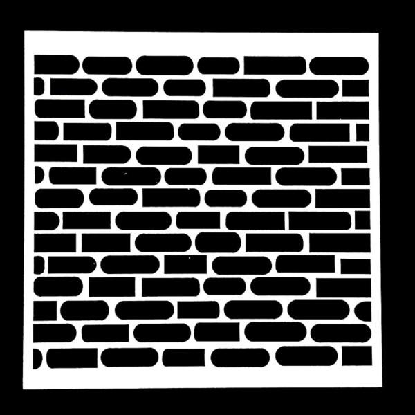 POCHOIR PLASTIQUE 13*13cm : mur motif brique - Photo n°1
