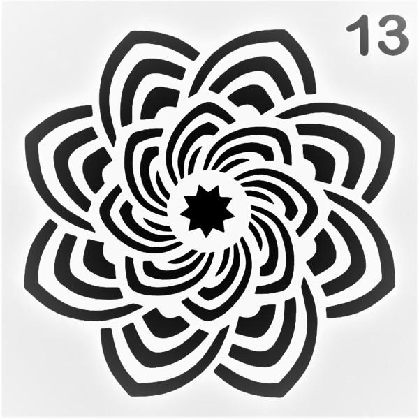 POCHOIR PLASTIQUE 13*13cm : motifant46 - Photo n°1