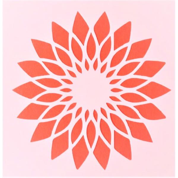 POCHOIR PLASTIQUE 13*13cm : fleur (42) - Photo n°1