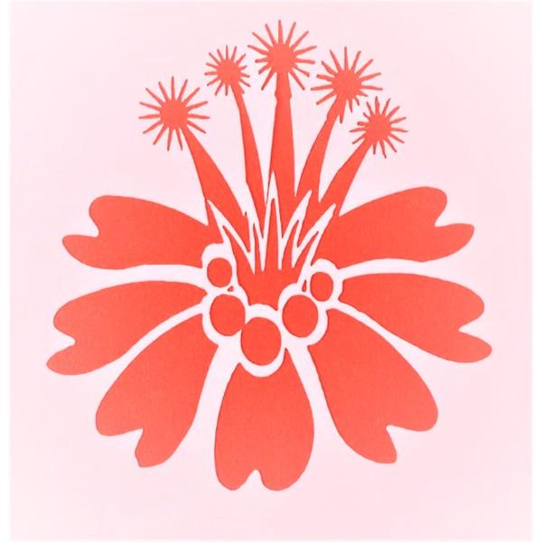 POCHOIR PLASTIQUE 13*13cm : fleur (43) - Photo n°1