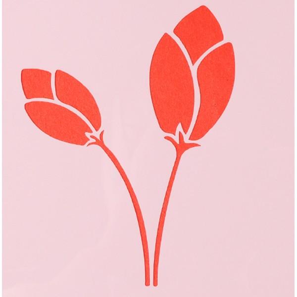 POCHOIR PLASTIQUE 13*13cm : fleur (45) - Photo n°1