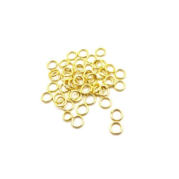 bracelet .. 100 Anneaux de jonction Doré 6 mm ouvert 6mm creation bijoux Dore