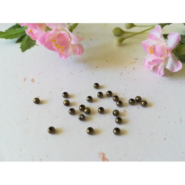 Perles métal intercalaire 3 mm bronze x 100 - Photo n°1