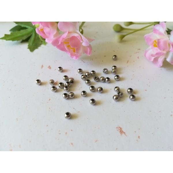 Perles métal intercalaire 3 mm argent mat  x 100 - Photo n°1