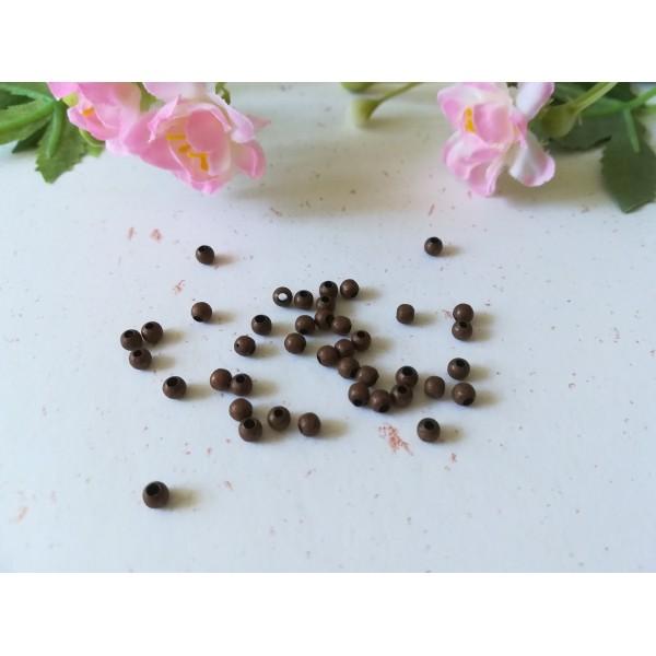 Perles métal intercalaire 3 mm cuivre x 100 - Photo n°1