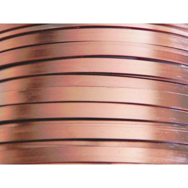 2 Mètres fil aluminium plat marron 5mm - Photo n°1