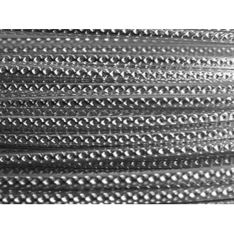 1 Mètre fil aluminium strié anthracite 2mm