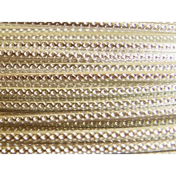 5 Mètres fil aluminium strié perle 2mm - Photo n°1