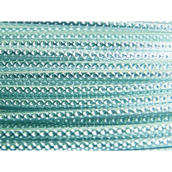 2 Mètres fil aluminium strié bleu glacé 2mm - Photo n°1