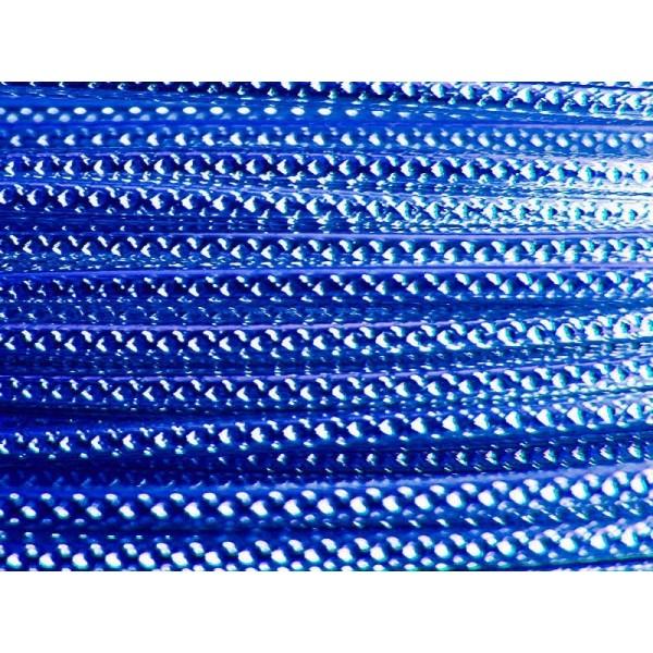2 Mètres fil aluminium strié bleu royal 2mm - Photo n°1