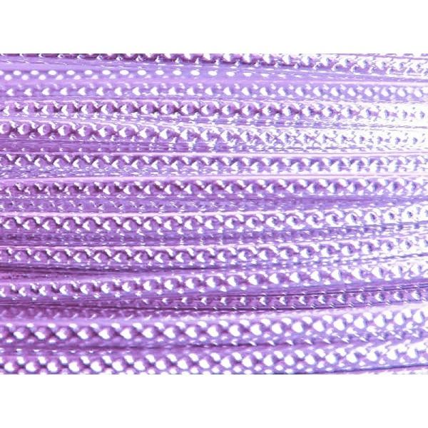 5 Mètres fil aluminium strié lilas clair 2mm - Photo n°1
