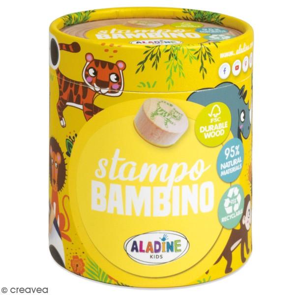 Kit de tampons bois Stampo Bambino - Savane - 8 pcs - Photo n°1