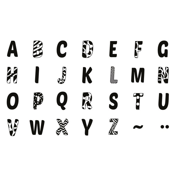 Kit de tampons bois Stampo Bambino - Alphabet - 28 pcs - Photo n°2