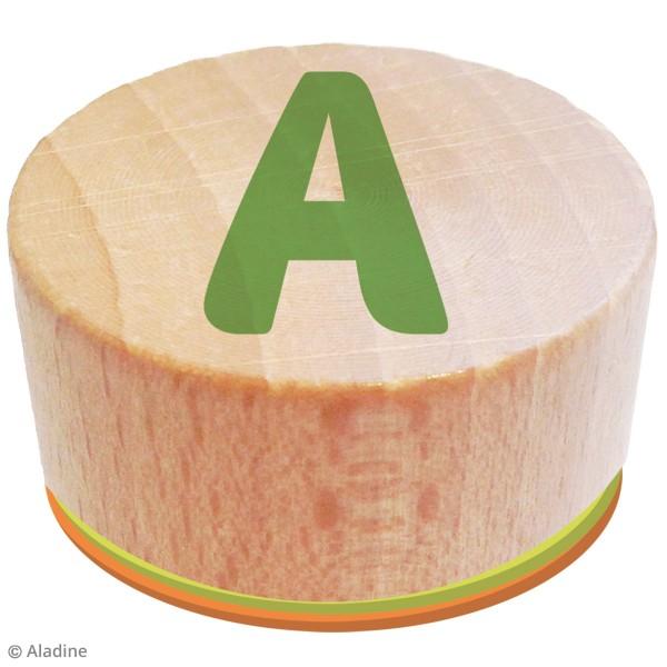 Kit de tampons bois Stampo Bambino - Alphabet - 28 pcs - Photo n°4
