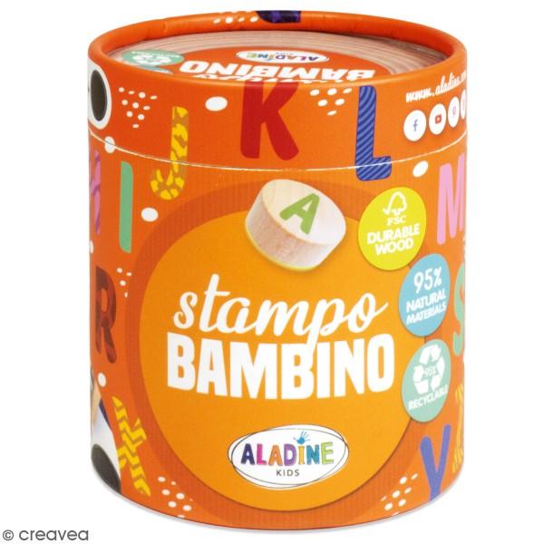 Kit de tampons bois Stampo Bambino - Alphabet - 28 pcs - Photo n°1