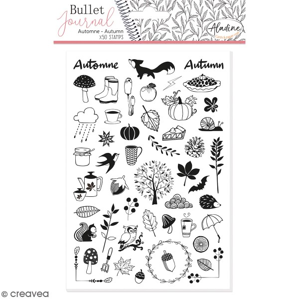 Tampons Stampo Bullet Journal - Automne - 50 pcs - Photo n°1