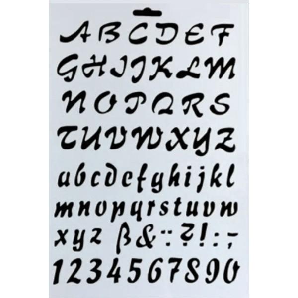 POCHOIR PLASTIQUE 26*18cm : alphabet (03) - Photo n°1