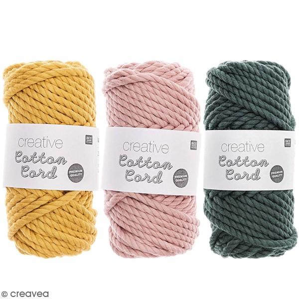 Bobine coton câblé - Cotton Cord Rico Design - 6 mm - 130 g - Photo n°1