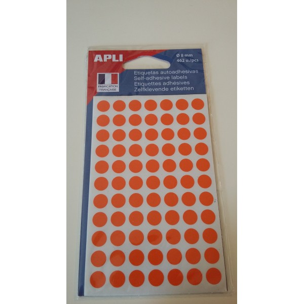 Etiquette adhésive ronde orange - Photo n°1