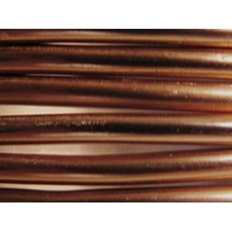 5 Mètres fil aluminium chocolat 5mm