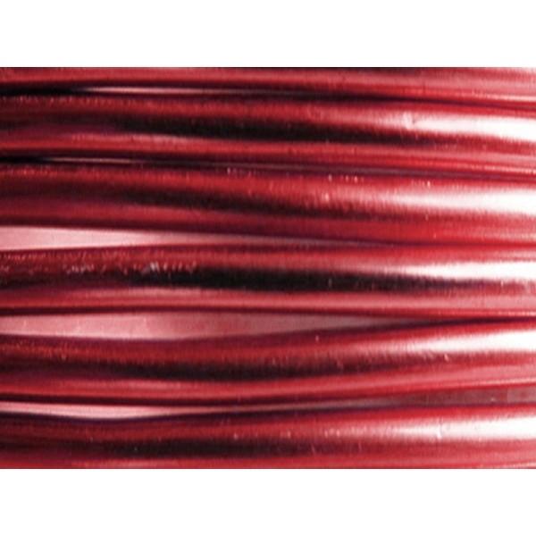2 Mètres fil aluminium sang de boeuf 5mm - Photo n°1