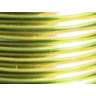 1 Mètre fil aluminium vert pomme 5mm