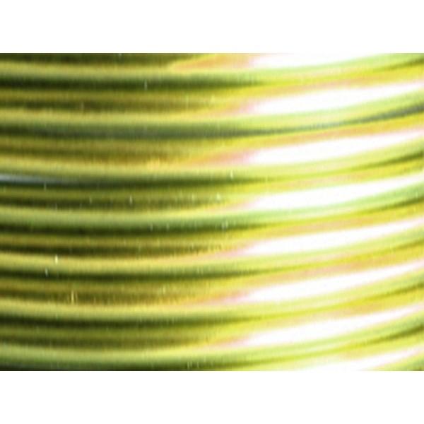 10 Mètres fil aluminium vert pomme 5mm - Photo n°1