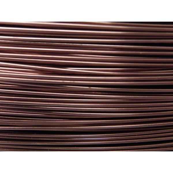 15 Mètres fil aluminium chocolat 0.8 mm - Photo n°1