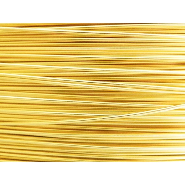 5 Mètres fil aluminium doré clair 0.8mm - Photo n°1