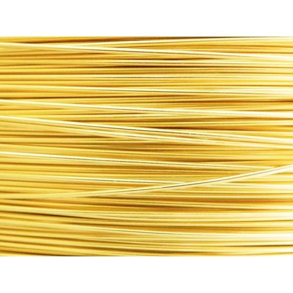10 Mètres fil aluminium doré clair 0.8 mm - Photo n°1