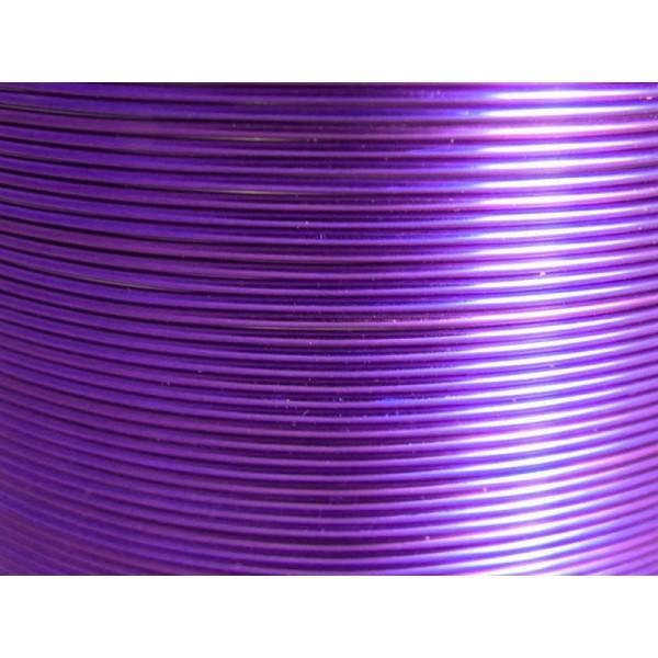 10 Mètres fil aluminium lilas 0.8 mm - Photo n°1