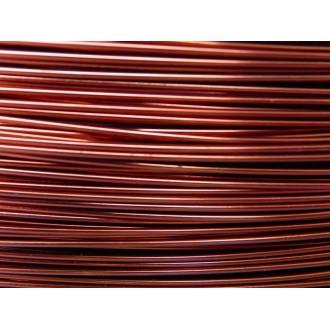 10 Mètres fil aluminium marron 0.8 mm