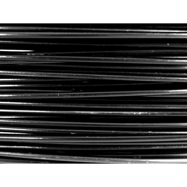 5 Mètres fil aluminium noir 0.8mm - Photo n°1
