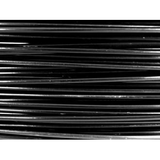 10 Mètres fil aluminium noir 0.8 mm