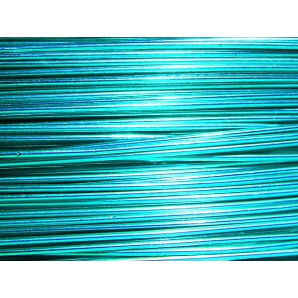 10 Mètres fil aluminium turquoise 0.8 mm - Photo n°1