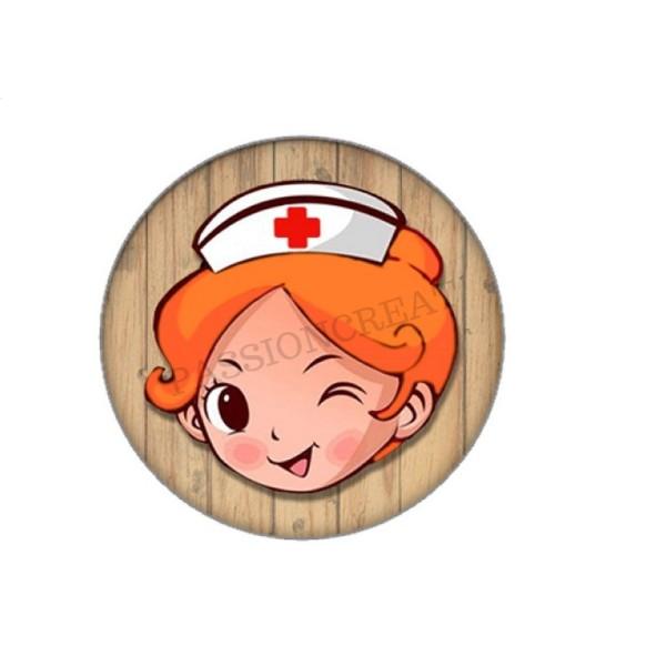 Infirmière Qui Déchire 2 Cabochons 25mm - Photo n°1