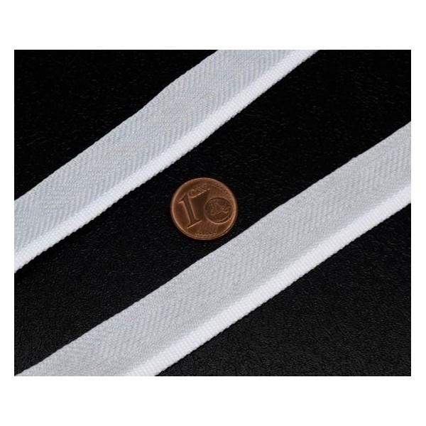 5m Ruban Blanc Chevron Talonnette 16mm En Polyester - Photo n°2