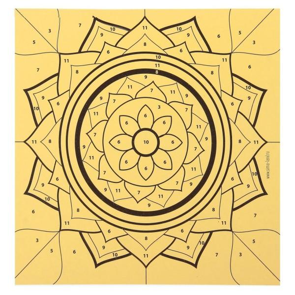 Mandala Kit de BRICOLAGE, Fresque de Paillettes Peinture Par Numéros, W Paillettes Sable, Kid Projet - Photo n°3