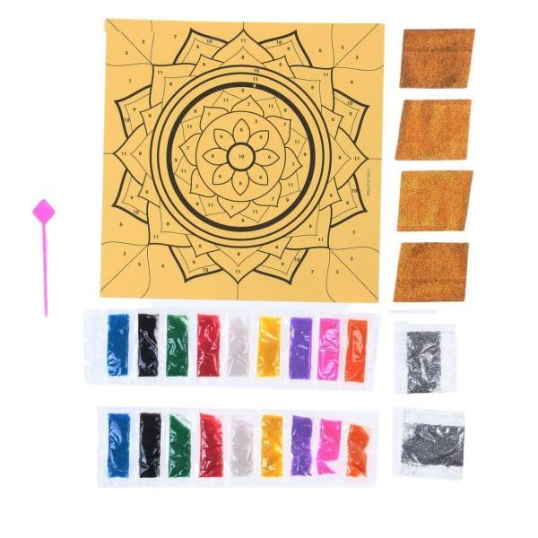 Mandala Kit de BRICOLAGE, Fresque de Paillettes Peinture Par Numéros, W Paillettes Sable, Kid Projet - Photo n°4