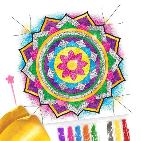 Mandala Kit de BRICOLAGE, Fresque de Paillettes Peinture Par Numéros, W Paillettes Sable, Kid Projet - Photo n°1