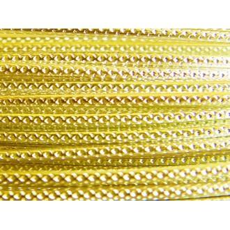 30 Mètres fil aluminium strié jaune soleil 2mm
