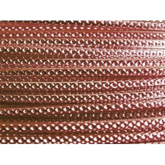 1 Mètre fil aluminium strié marron 2mm