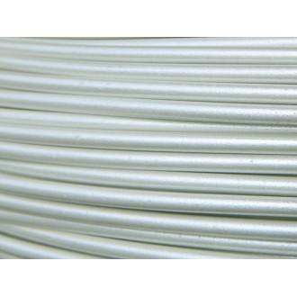 1 Mètre fil aluminium blanc nacré laqué 2mm