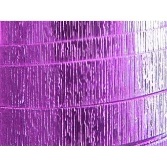 2 Mètres fil aluminium plat strié lavande 20mm