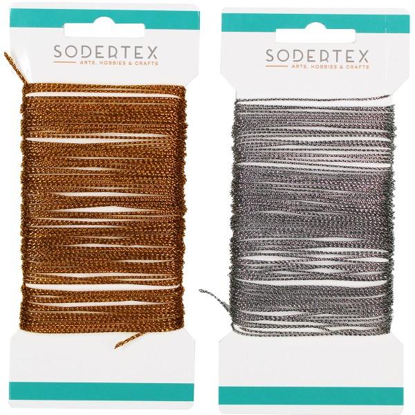 Fils pour bijoux 1 mm - Doré et Argenté - 10 m - 2pcs - Photo n°2
