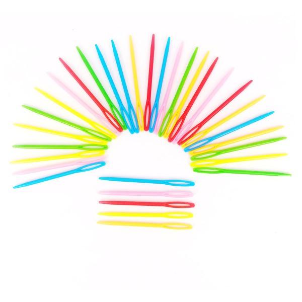 Lot d'aiguilles passe-laine multicolores - 7 cm - 32 pcs - Photo n°3